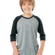 Youth Baseball Fine Jersey Three-Quarter Sleeve Tee